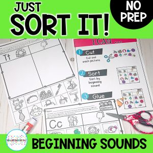 Just Sort It! Beginning Sound Alphabet Picture Sorts | Phonemic Awareness cover