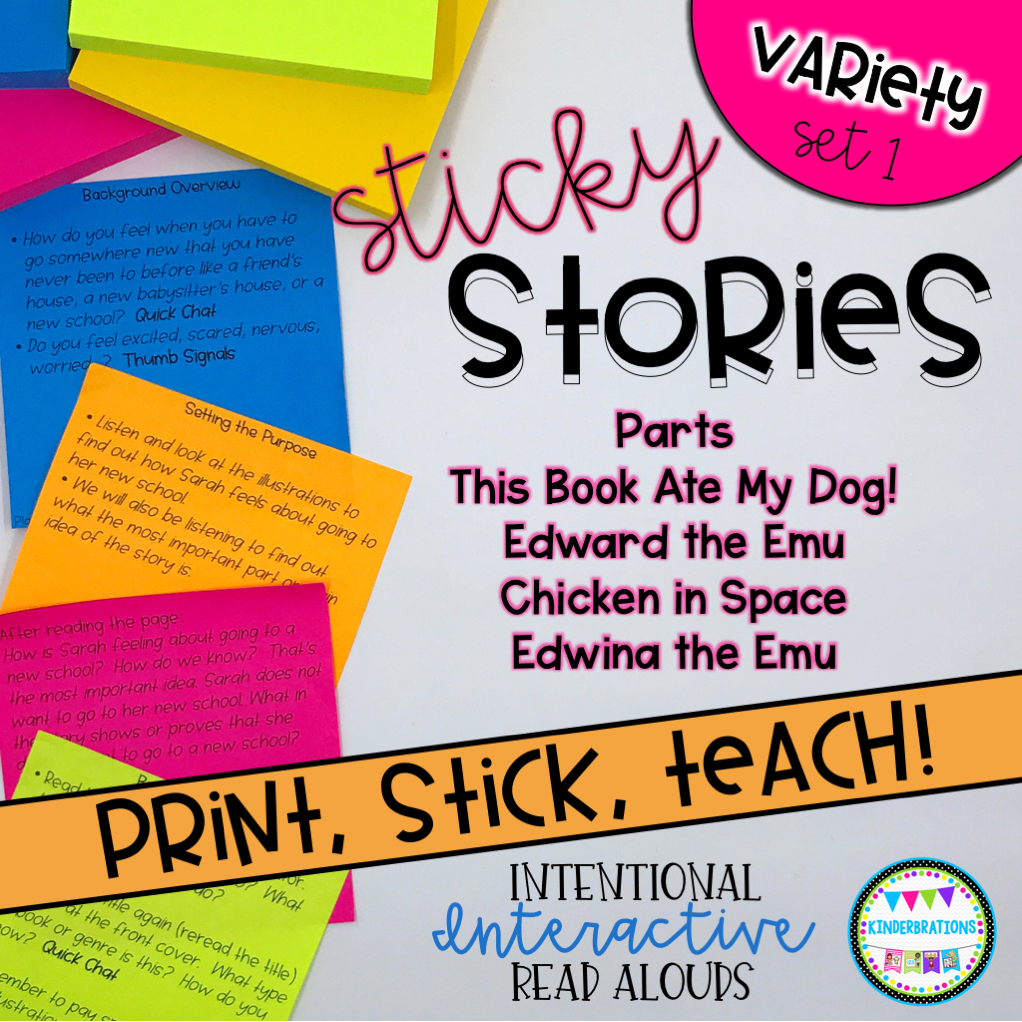 Interactive Read Aloud Lesson Plans and Activities BUNDLE - Variety Set 1 Cover