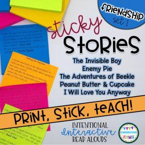 Interactive Read Aloud Lesson Plans and Activities BUNDLE - Friendship Set 1 Cover