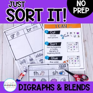 Just Sort It! Digraph and Consonant Blend Picture Sorts - Phonemic Awareness Cover