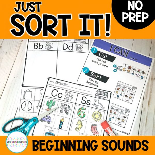 Just Sort It! Beginning sound Alphabet Sort cover