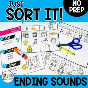 Just Sort It! Ending Sound Picture Sorts - Phonemic Awareness Cover